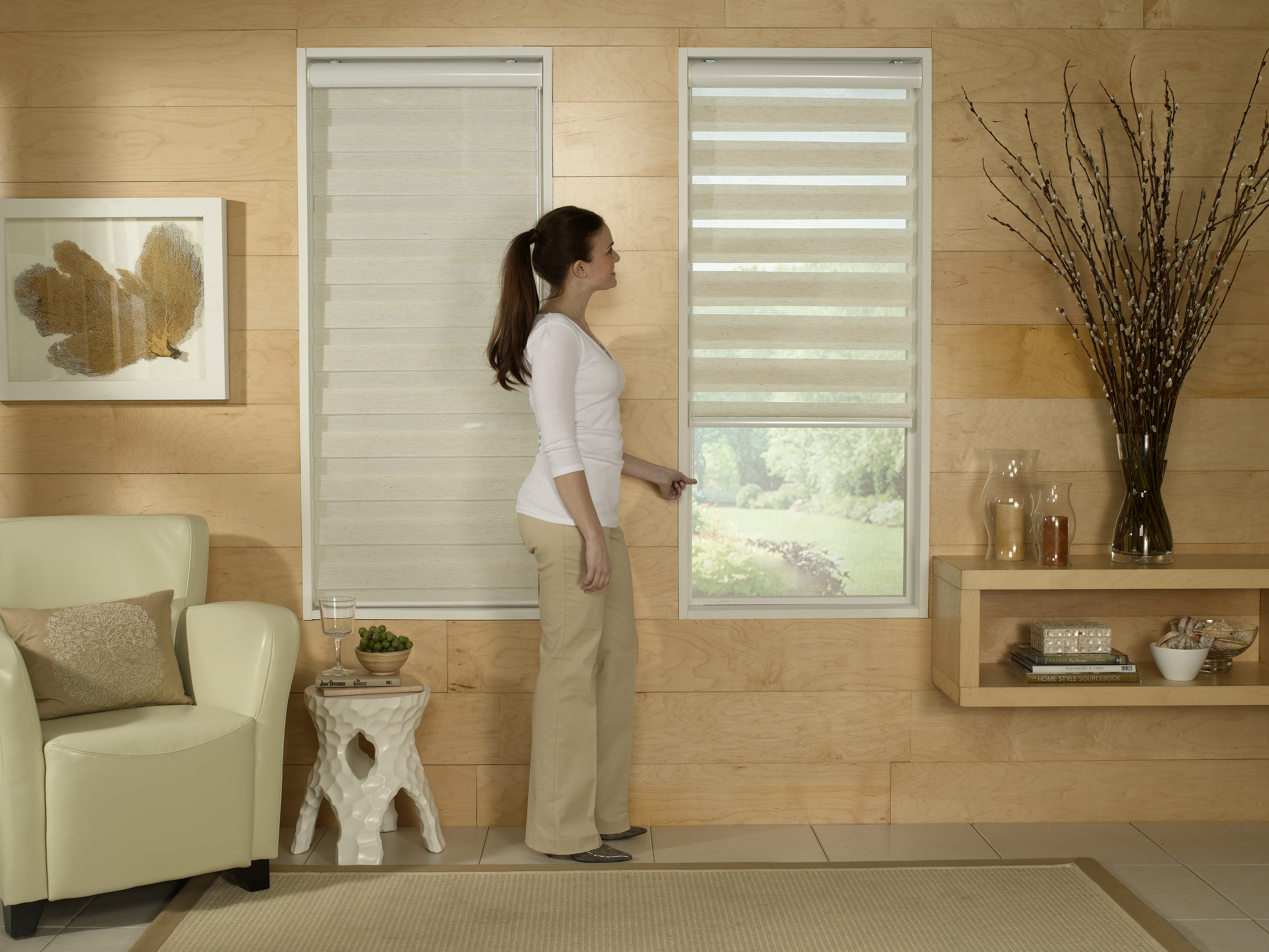 shop mini source vinyl white blinds light x cordless common actual filtering pd in project